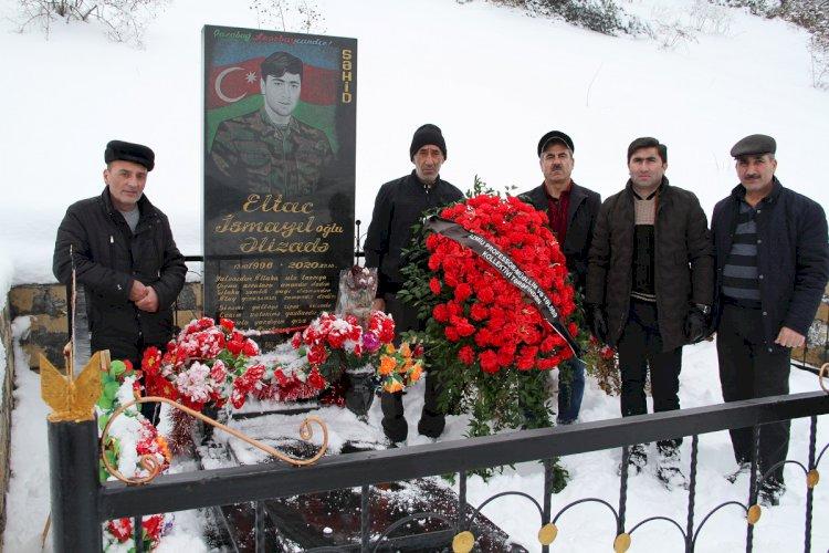 AzMİU-nun əməkdaşları şəhid məzununun ailəsini ziyarət edib